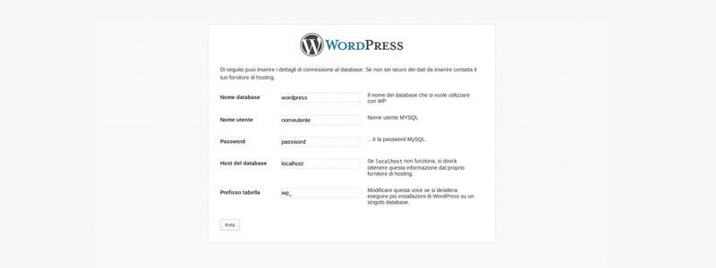 Come installare velocemente wordpress