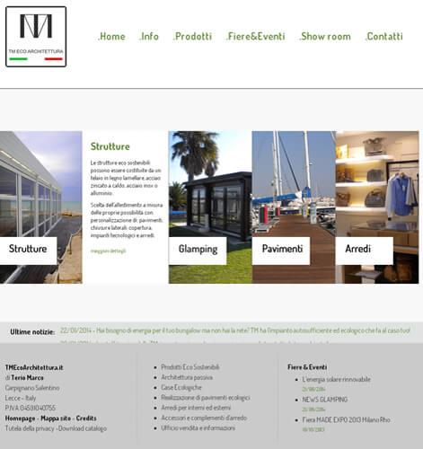Progettazione e creazione sito per ditta architettura for Eco architettura